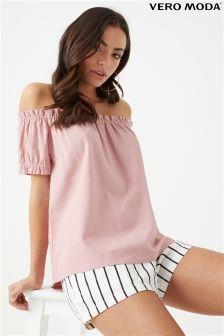Vero Moda Off Shoulder Linen Top