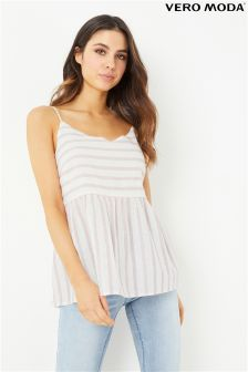 Vero Moda Striped Linen Top