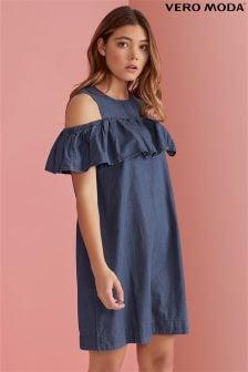 Vero Moda Ruffle Cold Shoulder Dress