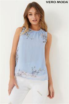 Vero Moda Floral Sleeveless Vest