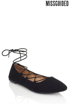 Missguided Ghillie Pointed Ballerina