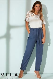 Vila High Waisted Chinos