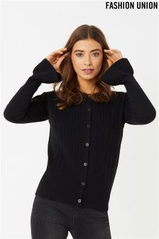 Fashion Union Frill Sleeve Cardigan