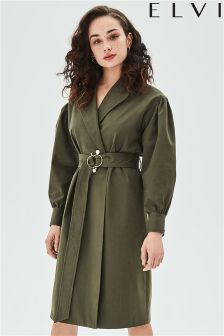 Elvi Trench Coat With Pearl Trim