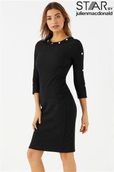 Star By Julien Macdonald TBC Studded Sleeve Texture Dress
