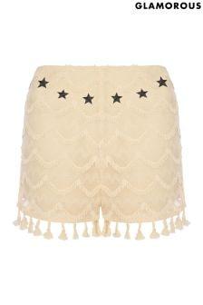 Glamorous Petite High Waisted Western Shorts