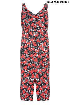 Glamorous Petite Floral Print Jumpsuit