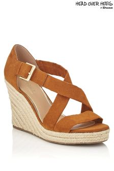 Head Over Heels Cross Strap Wedges