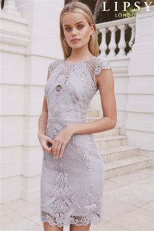 Lipsy Embroidered Lace Midi Dress