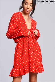 Glamorous Polka Dot Dress