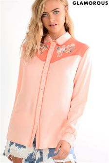 Glamorous Western Style Shirt With Embroidery