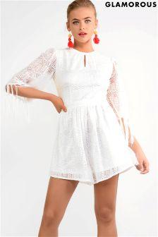 Glamorous Lace Tassel Playsuit