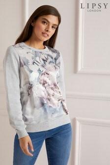 Lipsy Floral Print SweatShirt