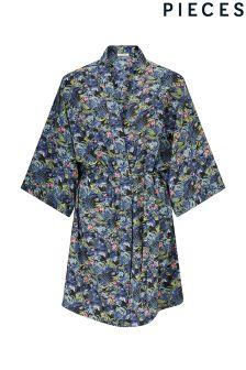 Pieces Tropical Print Kimono