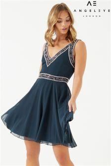 Angeleye Embellished Skater Dress