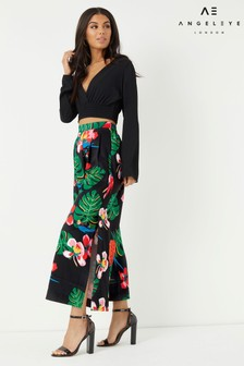 Angeleye Tropical Print Culottes