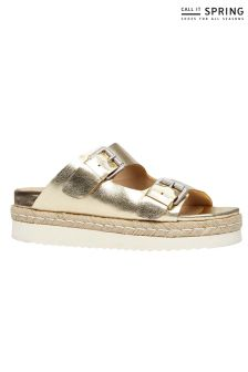 Call It Spring Double Strap Flatform Espadrilles