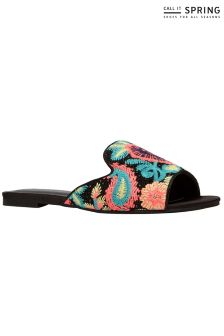 Call It Spring Printed Flat Mules