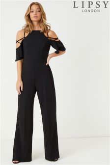 Lipsy Cross Shoulder Wide Leg Jumpsuit