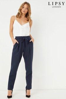 Lipsy Tailored Elasticated Waist Tapered Trousers