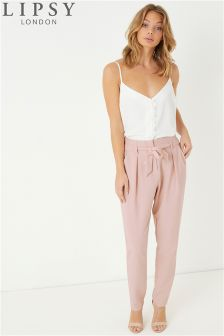 Lipsy Elasticated Back Tie Front Trouser