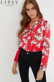 Lipsy Floral Satin Wrap Body
