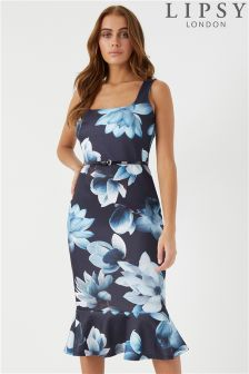 Lipsy Floral Square Neck Bodycon Dress
