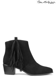 Miss Selfridge Fringed Ankle Boots