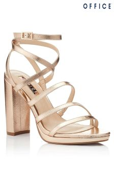Office Multi Strap Platform Sandals