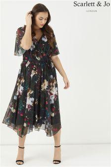 فستان بحاشية انسيابية Juliette من Scarlett & Jo