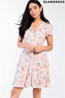 Чайное платье с цветочным рисунком Glamorous