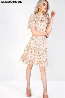 Платье с цветочным принтом Glamorous