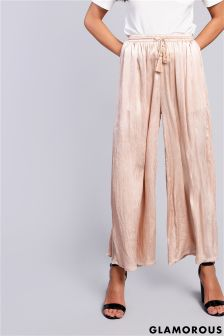 Glamorous High Waisted Plisse Trousers