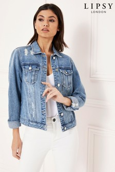 Lipsy Distressed Denim Jacket