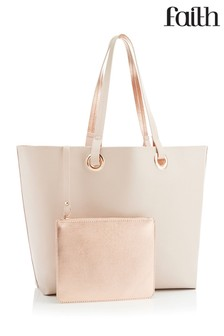 Faith Metallic Reversible Shopper Bag