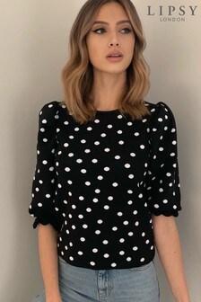 Lipsy Short Sleeve Jacquard Pattern Knitted Jumper