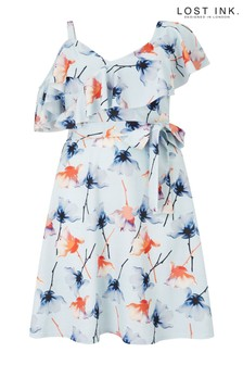 Lost Ink Plus Floral Print Skater Dress