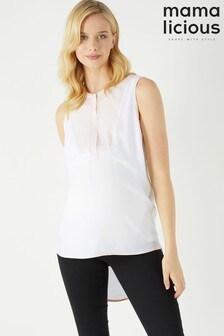 חולצת הנקה ארוגה Nancy Lia של Mamalicious