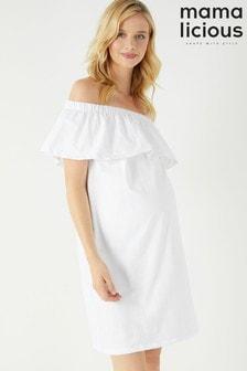 שמלת היריון קצרה מבד ג'רזי של Mamalicious