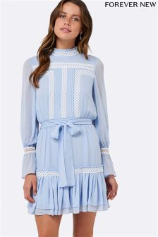 Forever New Pintuck Shirring Dress