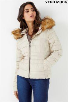 Vero Moda Faux Fur Padded Jacket