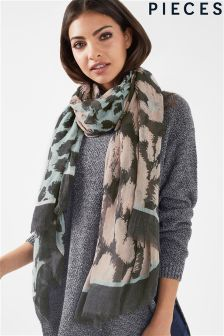 Pieces Printed Long Scarf
