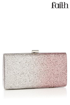 Faith Glitter Clip Clutch