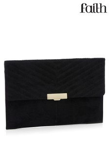 Faith Suede Clutch