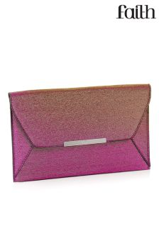 Faith Glitter Envelope Clutch