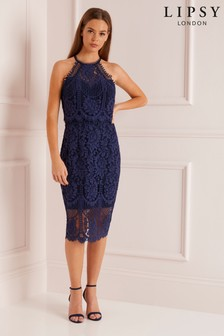9f171041a1fc VIP Halterneck All Over Lace Midi