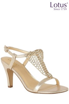Lotus Diamanté Heeled Sandals