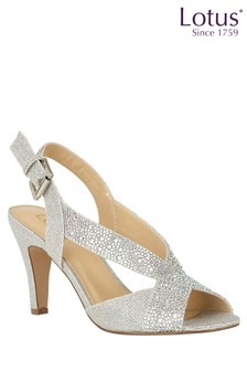 Lotus Jewelled Heeled Sandals