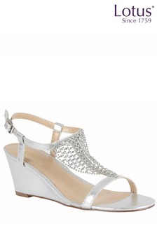 Lotus Diamanté Wedge Sandal