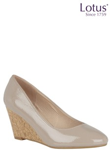 Lotus Cork Effect Wedge Shoe